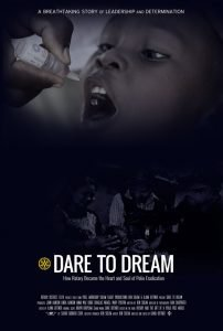 DARE TO DREAM Film Poster, Rais money for Polio Plus